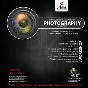 Photography as Career- Workshop