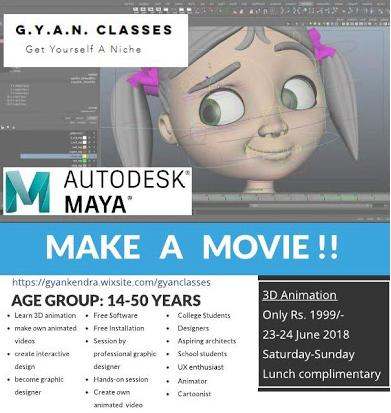 3D Animation Workshop by G.Y.A.N Classes