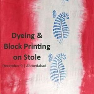 Dyeing & Block Printing on Stole
