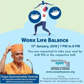 `Work Life Balance` - Pujya Shri Gyanvatsaldas Swamiji