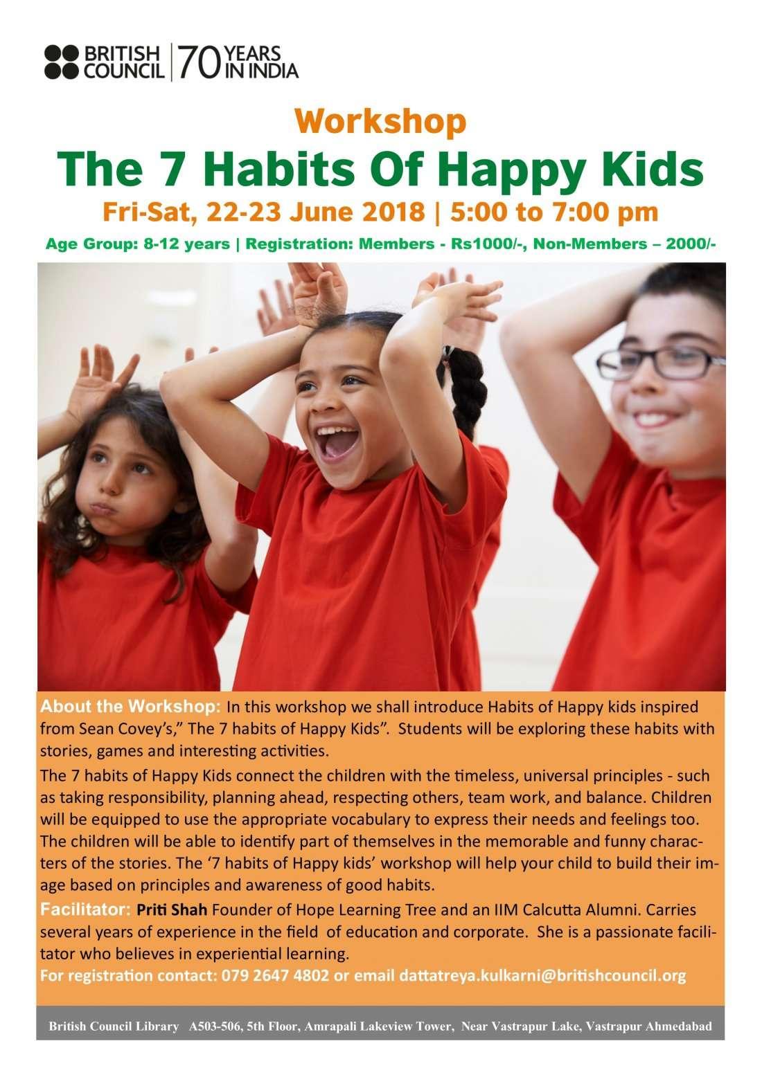 Workshop: The 7 Habits Of Happy Kids