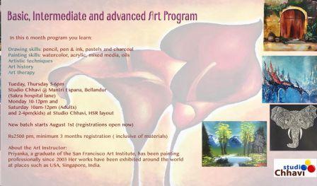 Basic, Intermediate and advanced Art Program - With Priyanka Gupta Agarwal