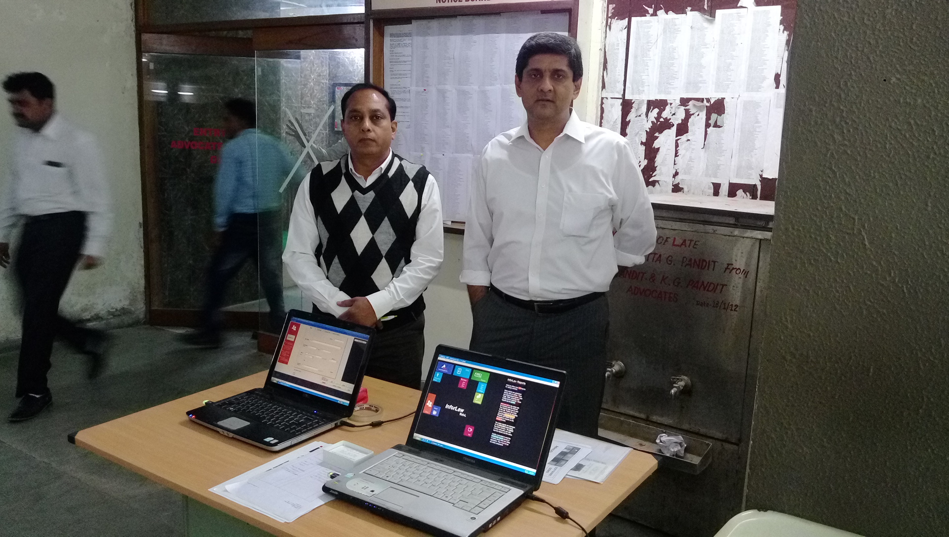 Inforcom at High Court of Gujarat for round 2 demo of InforLaw software application