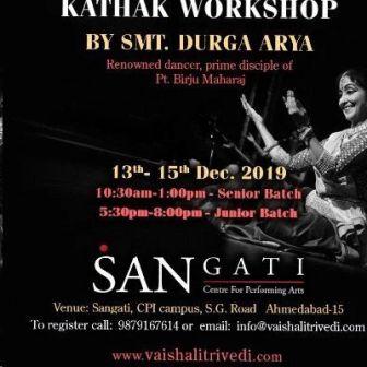 Kathak workshop at Sangati Centre for Performing Arts