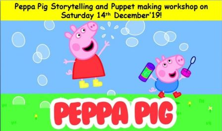 Peppa Pig Storytelling and Puppet making workshop!