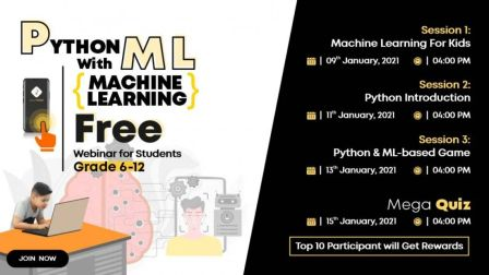 Python with Machine Learning - Workshops for Grade 6-12