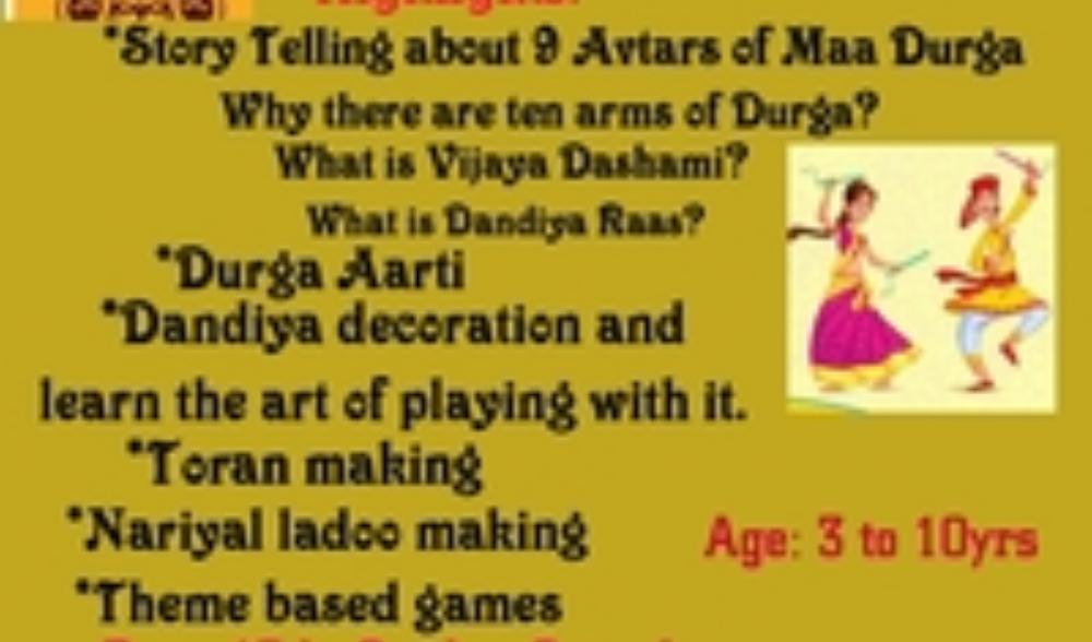 Navratri Special Workshop for kids