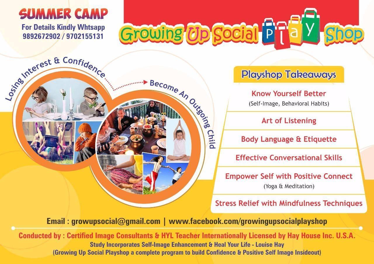Growing Up Social Playshop - Summer Camp - With Smita & Trupti