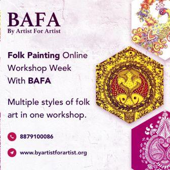 Folk Painting Online Workshop Week with BAFA
