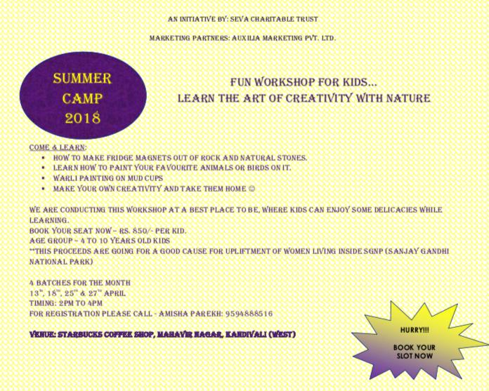 Fun workshop for kids.learn the art of creativity with nature