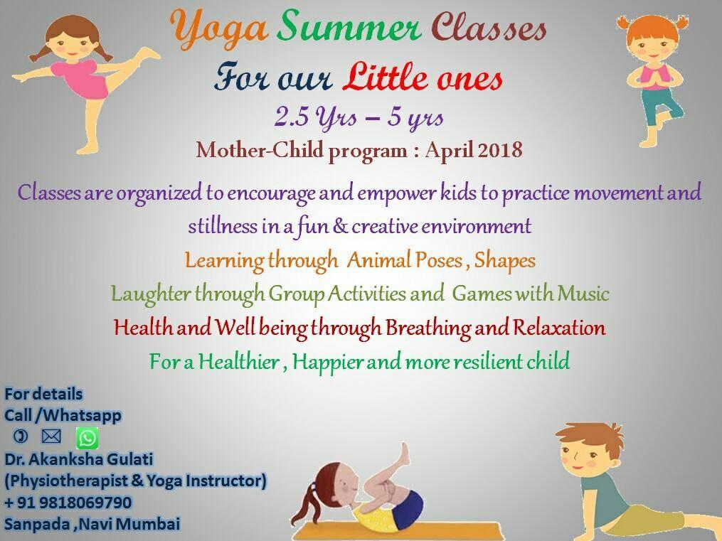 Kids Yoga Classes at Sanpada - With Dr Akanksha Gulati Physiotherapists & Yoga Instructor