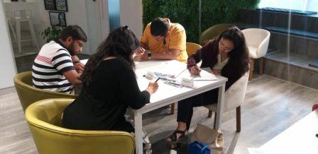 Weekdays Brush Calligraphy Beginners Classes (9PM-11PM)