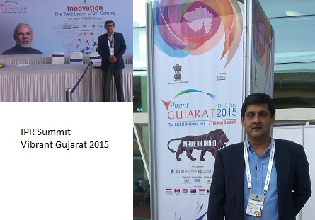 Visit to Vibrant Gujarat International Expo and IPR summit at GNLU