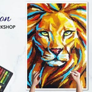 Online The Lion Oil Pastel Workshop