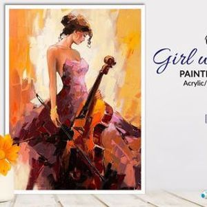 Online Girl with a Cello Painting Workshop