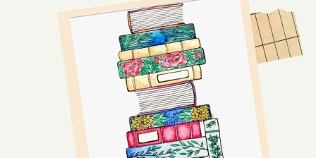 Watercolor Book Stack Free Instagram Live by Art Amore