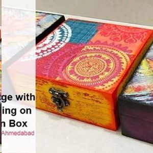 Decoupage with Distressing on Wooden Box