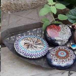 Dot Mandala Workshop On A Stone