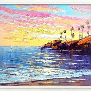 Online Sunset at the Beach Knife Painting