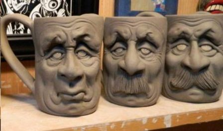 Clay Caricature on Coffee Mug workshop by The Living Walls
