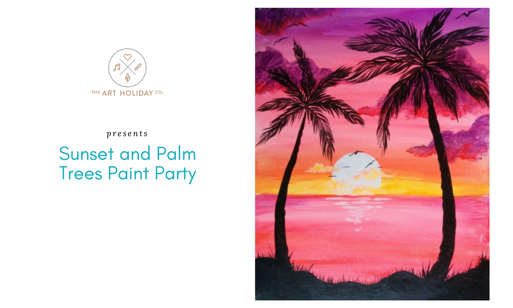 Sunset and Palm Trees Paint Party