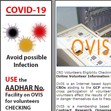 OVIS ready with Touch less checking function for Post-Corona CRO functioning