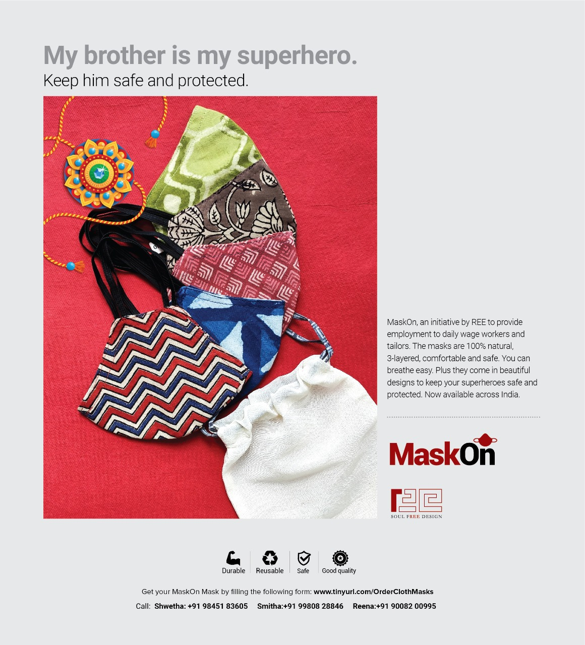 This #RakshaBandhan, protect your sibling with the perfect gift - complete with a gift bag.