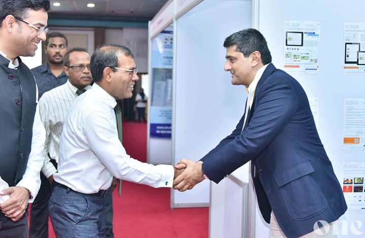 #Inforcom at India Expo 19 Conclave at #Maldives. Visit by the Ex President and Speaker of Maldives