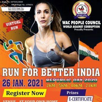 VIRTUAL RUN FOR BETTER INDIA