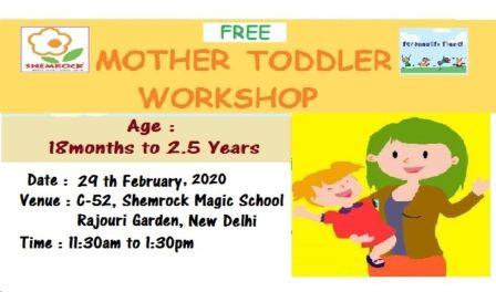 Free Mother Toddler Workshop at Shemrock Magic School
