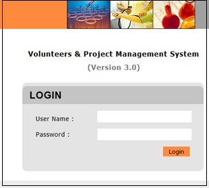 Volunteers Database application - VPMS installed at a Pune CRO