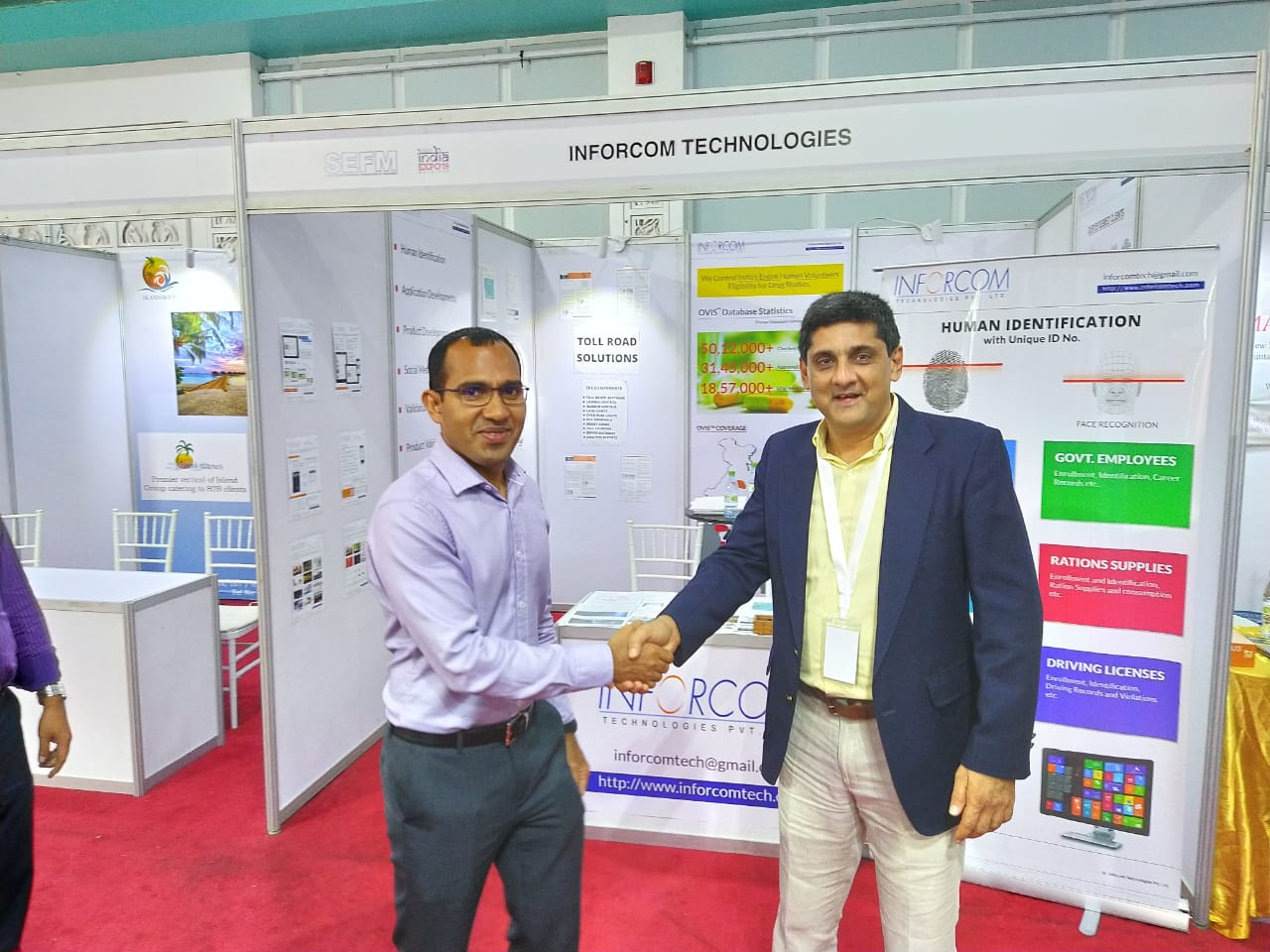IT minister, Maldives at  #Inforcom stall - #IndiaExpo 19 Conclave at #Maldives.