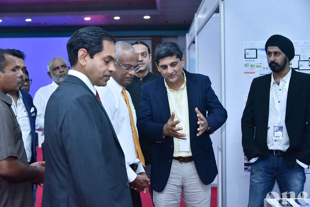 The #President of Maldives at  #Inforcom Stall - India Expo 19 Conclave at #Maldives.