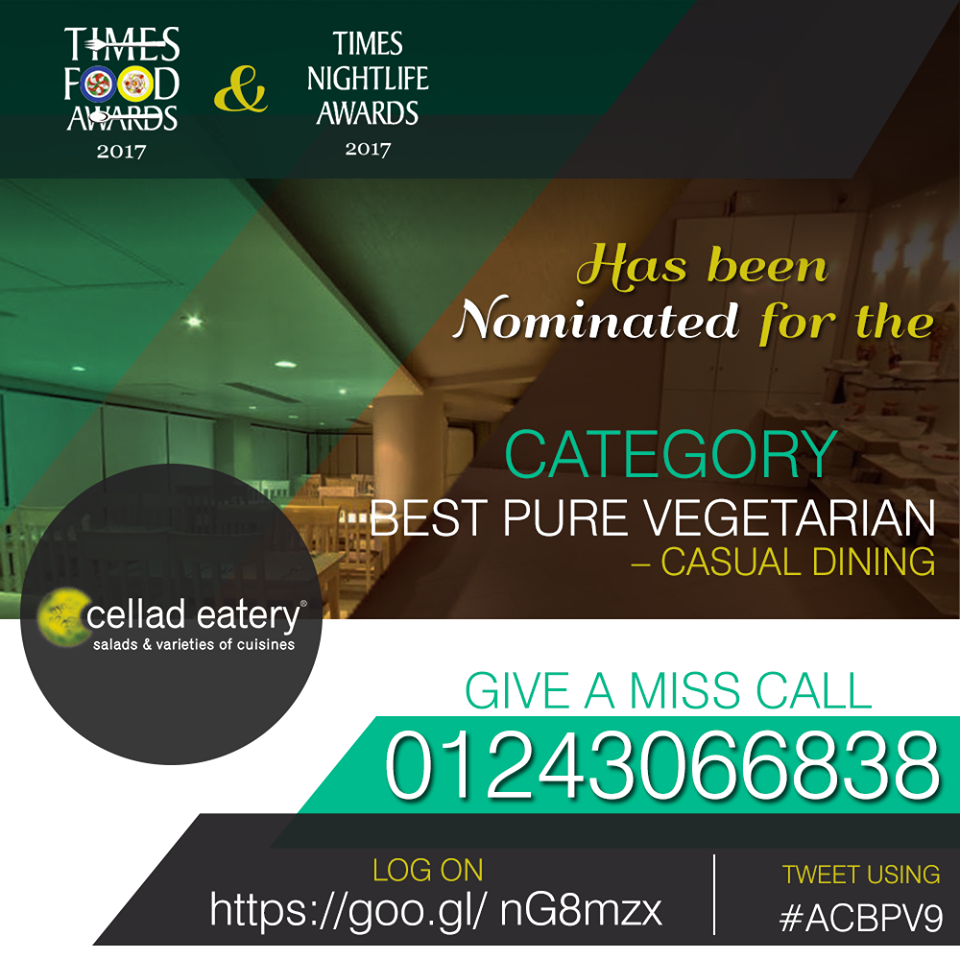Time to Vote for your favourite SaladBar! - Cellad Eatery