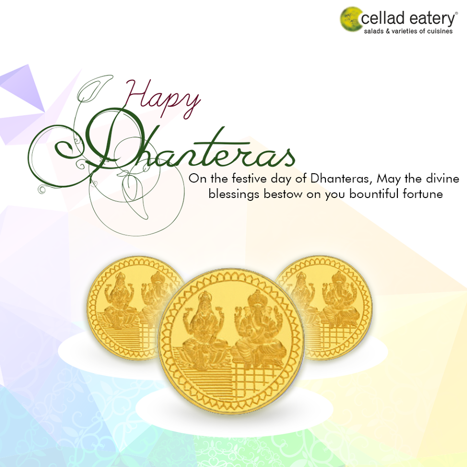 Happy Dhanteras - Good Wishes by Cellad Eatery
