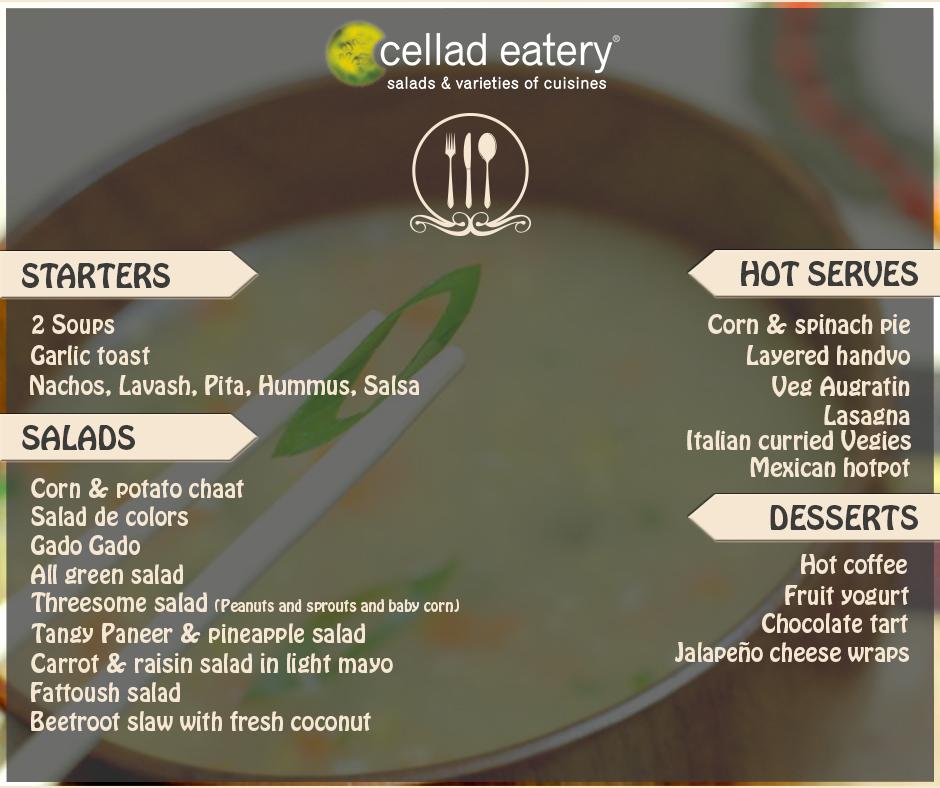 Menu of the Week - at Cellad Eatery