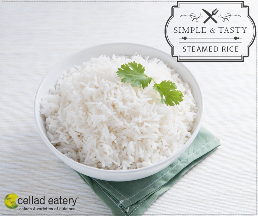Steamed Rice! - at Cellad Eatery