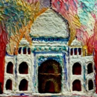Knife Painting Taj Mahal