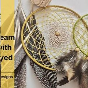 Dream Catcher Making with Organic Dyed Thread