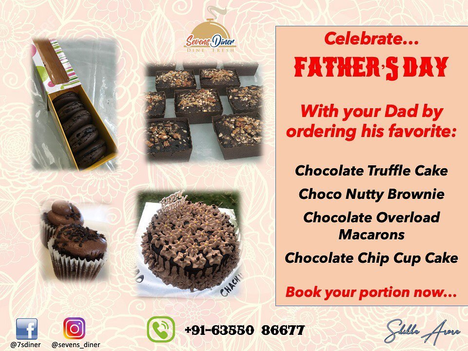 Celebrate FATHER'S DAY by ordering your Dad's favourite