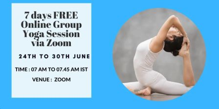 7 day FREE 45 min. Daily Group Yoga Sessions