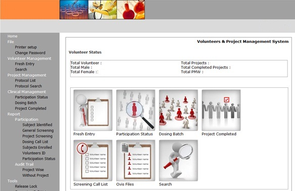 Volunteers Database Application audit at Pune CRO.