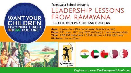Ramayana Leadership Lessons Workshop - 6 day Online session