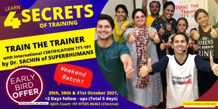 Train The Trainer (TTT- 101) – International Certification – Learn A to Z of Training