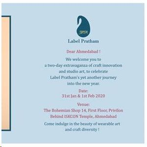 Label Pratham - Ahmedabad Exhibit 31st Jan & 1st Feb `20
