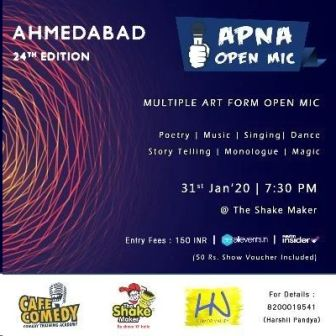 Apna Open Mic (Ahmedabad - 24th Edition - Multiple Art Form)