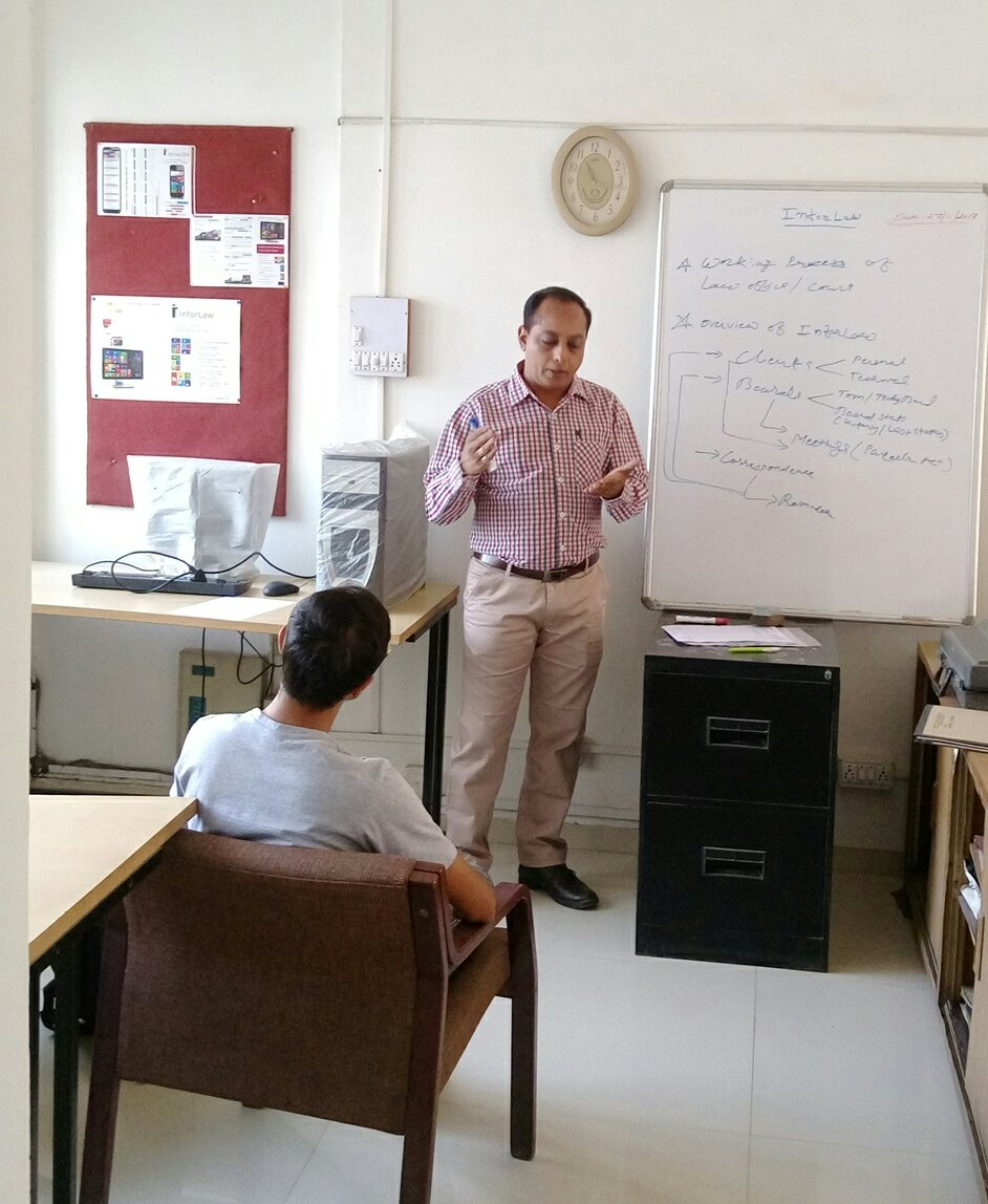 In-house Personlised training of InforLaw - Advocates office Management System.