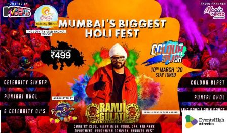 Colour Splash - Mumbai`s Biggest Holi Festival 2020