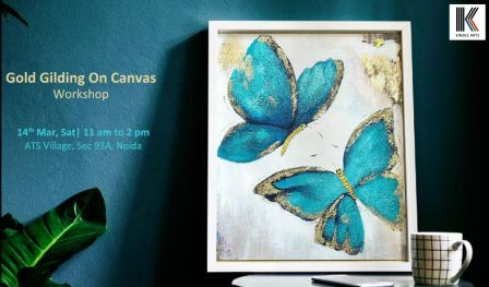 Gold Gilding On Canvas Workshop | Kindle Arts
