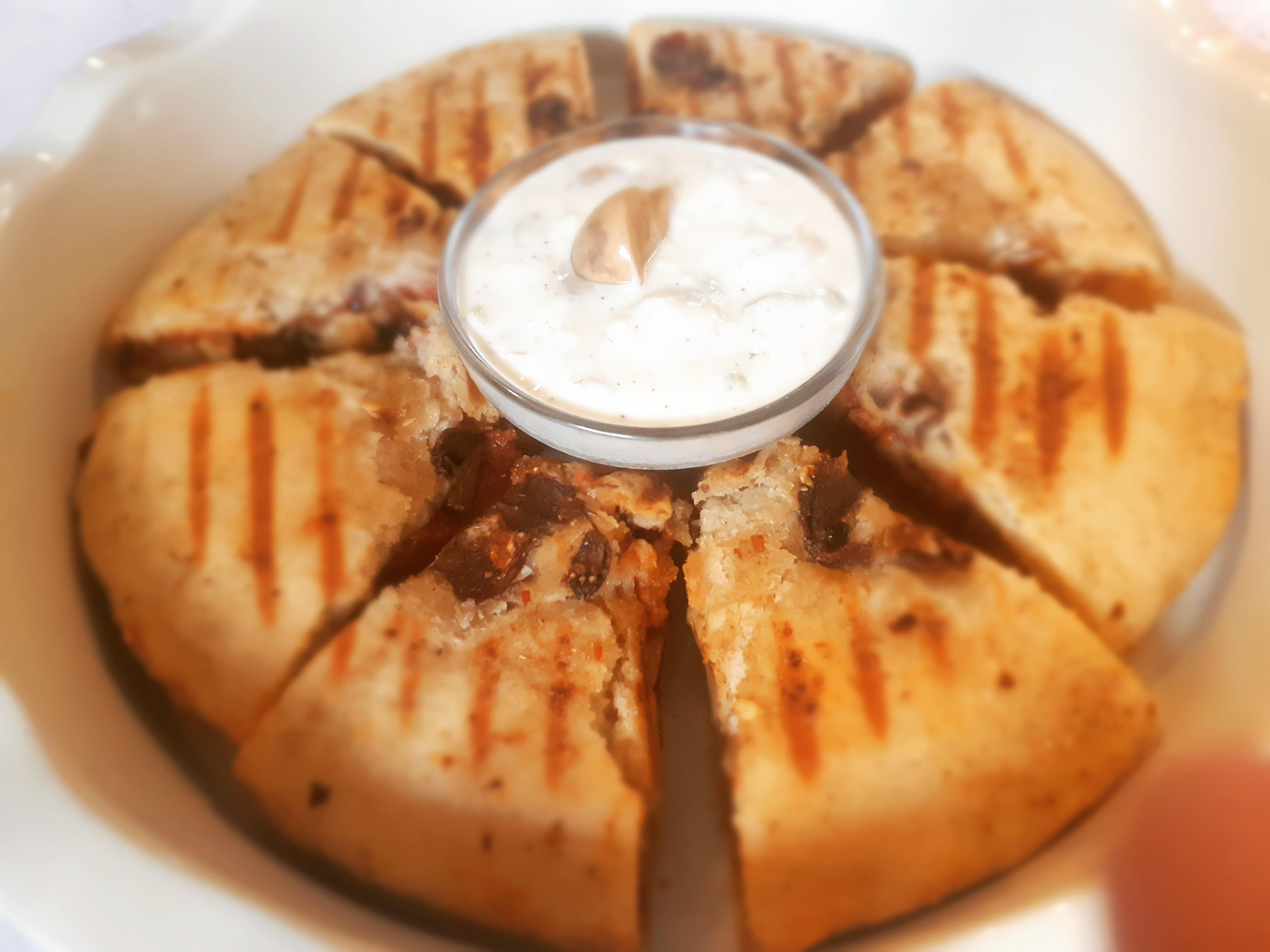 Red Bake Pan Mushroom Sandwich Platter @INDULGENCE